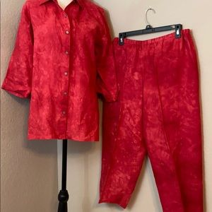 Chicos design linen outfit size one